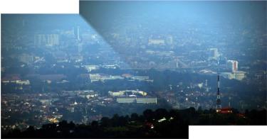 Jembatan Pasupati Bandung dan ITB difoto dari lembang. © Alfan Nasrulloh