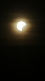 Solar Eclipse. Bromo Tengger Semeru National Park