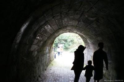 Di dalam terowongan menuju kawah G. Kelud.